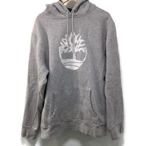 TIMBERLAND men's gray logo hooded sweatshirt XL